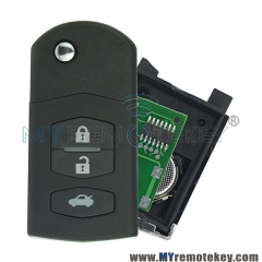 Flip remote key for Mazda M6 3 button 4D63 chip