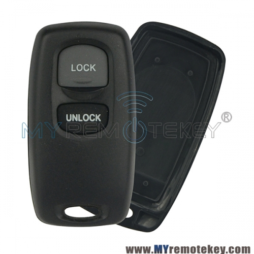 Remote key fob shell 2 button for Mazda 2 3 6 323 626