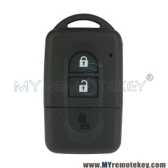 Smart Card key shell case 2 button for Nissan Micra