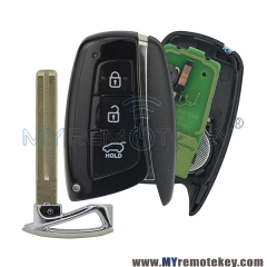 Smart car key for Hyundai Santa Fe IX45 2013 2014 3 button 434mhz