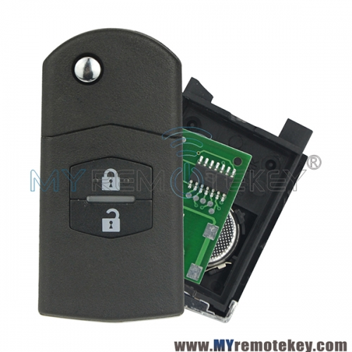 Flip remote key for Mazda M6 2 Button