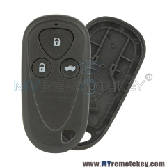Remote fob shell 3 button for Acura