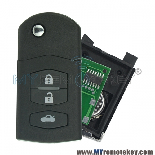 Flip remote key for Mazda M3 3 button 4D63 chip