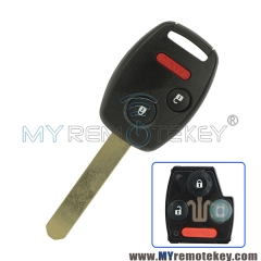 Remote head key OUCG8D-380H-A 2 button with panic 313.8Mhz for Honda Ridgeline Odyssey Fit