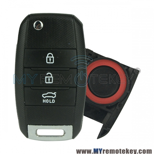 Flip remote key 3 button 434Mhz for Kia Sorento Carens 2013 2014