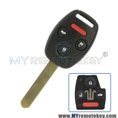 Remote head key OUCG8D-380H-A for Honda Accord 2003 2004 2005 2006 2007 3 button with panic 313.8Mhz ID46 chip car key