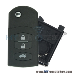 New style Flip remote key case shell for Mazda 2 3 6 RX8 MX5 3 button