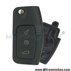 Flip remote car key shell case for Ford FO21