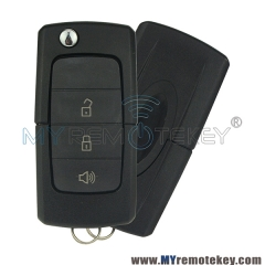 Flip remote key shell case 3 button for Ford Brazil model