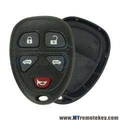 Remote fob shell for Chevrolet 5 button 15100813 2005 - 2008