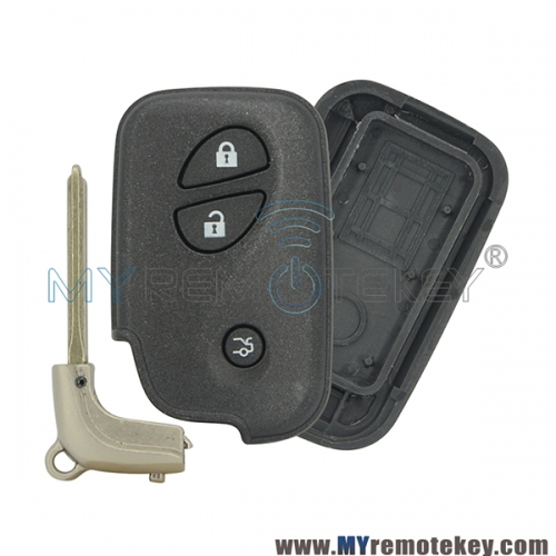Smart key case shell cover for Lexus 3 button