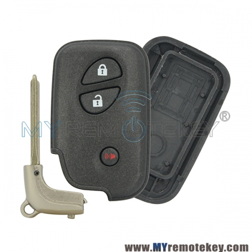 Smart key case shell for Lexus CT200h RX350 RX450h 3 button