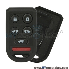 Remote fob case 6 button for Honda Odyssey OUCG8D-399H-A