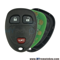 15913420 Remote key keyless fob for Buick Chevrolet GMC Pontiac Saturn 315 Mhz 3 button OUC60270/OUC60221
