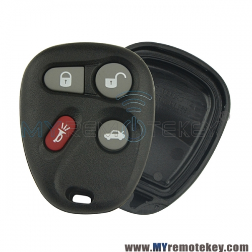 Remote fob shell case for Buick Cadillac Chevrolet Pontiac 4 button