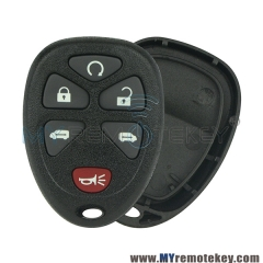 Remote Fob shell 6 button for GMC Cadillac Chevrolet 20859053