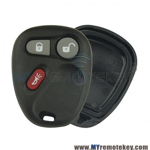 Remote fob shell case for Buick Cadillac Chevrolet Pontiac 3 button