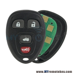 OUC60270 / OUC60221 Remote Fob for Chevrolet Buick Cadillac 4 button 315mhz 15912859