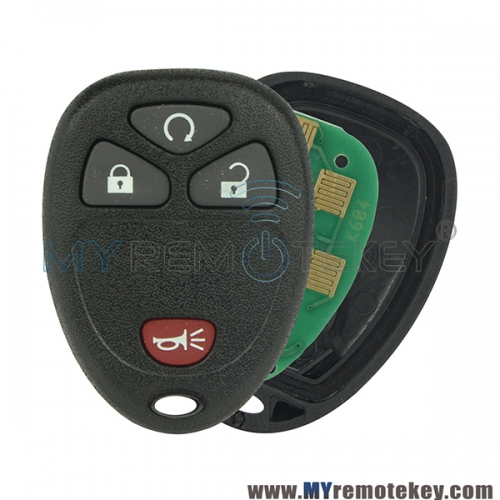 KOBGT04A Remote Fob 315mhz for Chevrolet Buick Pontiac 4 button 15114374