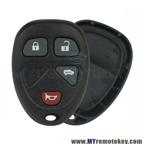 Remote key fob case shell for Buick Terraza Chevrolet Uplander Pontiac Montana 4 button
