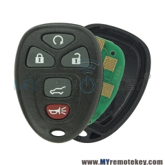 KOBGT04A Remote fob for Buick Cadillac Chevrolet 5 button 315mhz