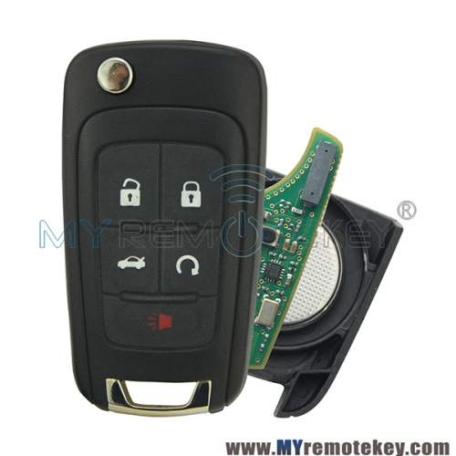 Flip remote key for Chevrolet Buick ID46-Hitag2-PCF7937E 315mhz OEM circuit board OHT01060512 GM 13504200