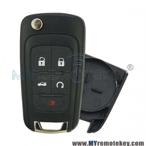 Flip remote key shell case 5 button for Chevrolet Cruze Buick