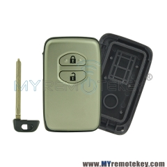 Smart key case 2 button for Toyota Camry Prado Land cruizer