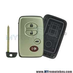 Smart key case 4 button with panic for Toyota Land Cruiser Venza HYQ14AAB