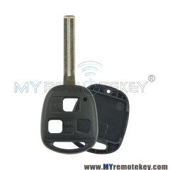 Remote key shell for Toyota 3 button TOY48 long