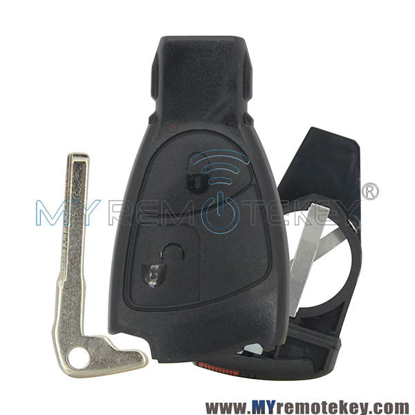For Mercedes Benz C E S 2 Button Smart Key Case With