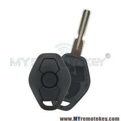 Remote car key case shell 3 button for BMW 3 5 series X3 X5 Z4 HU58