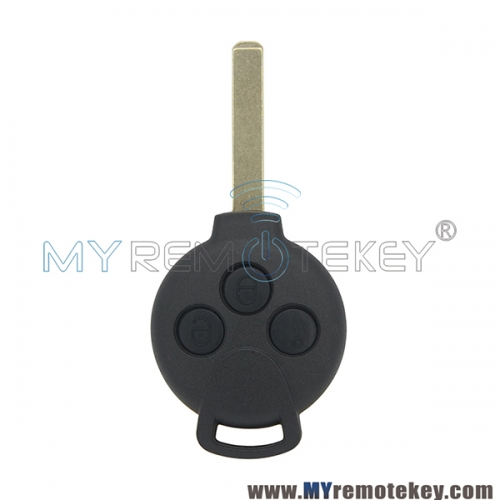 Remote key replace case shell for Smart Fortwo 3 button