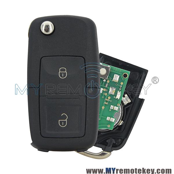 Car Key Fob Flip Head Keyless Entry For 1998 1999 2000 2001 Volkswagen Beetle