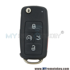 Flip remote key 4 button with panic 315mhz 561 837 202 A for VW car key NBG010206T