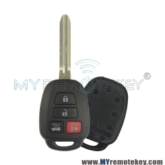 Remote key shell for Toyota Camry HYQ12BDM 4 button