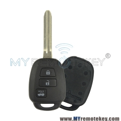 Remote key shell for Toyota 3 button