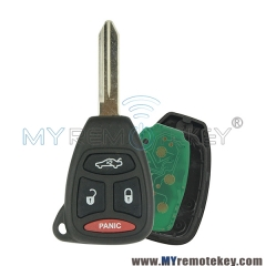 05179512AA Remote head key 3 button with panic 315Mhz for Chrysler Dodge Jeep Grand Cherokee KOBDT04A