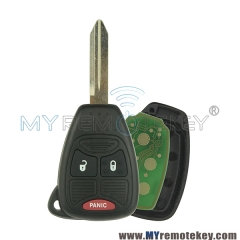 Remote car key head for Chrysler Dodge Jeep 2 button with panic OHT692427AA 315mhz