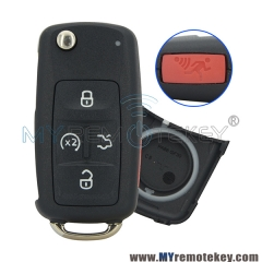 Flip key shell case 5 button for VW remote start NBG010206T