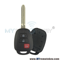 Remote key shell for Toyota 3 button HYQ12BDM
