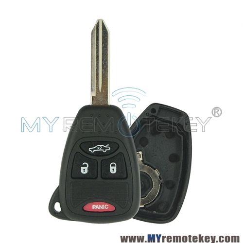 M3N5WY72XX  Remote head key shell case for Chrysler Dodge Jeep 3 button with panic 04589199AC