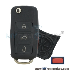 Flip remote key shell for VW Touareg 3 button with panic HU66