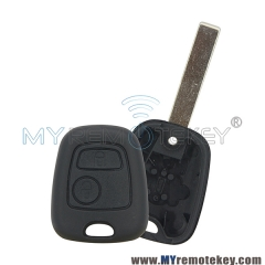 Remote key shell for citroen peugeot 2 button HU83