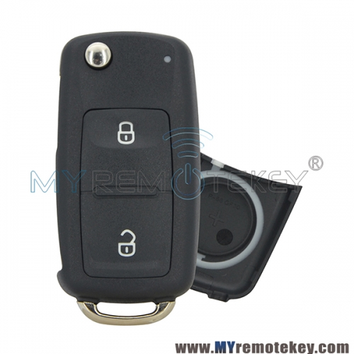 Flip remote key shell case 2 button for VW