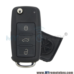 Flip remote key shell case for VW HU66 3 button