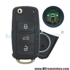 5K0837202AD Flip car remote key for VW Volkswagen Beetle Golf Eos Polo Sharan Tiguan 2011 2012 2013 HU66 3 button 5K0 837 202 AD ID48 434Mhz