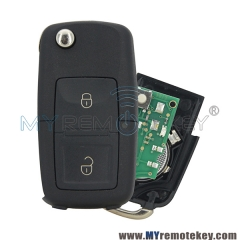 1J0 959 753 N Flip remote key 2 button 434mhz ID48 1J0959753N for VW Volkswagon Beetle Bora Golf Jetta Passat car key