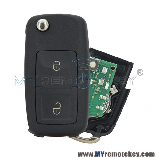 1J0959753N 5FA 009 259-55 Flip remote key 2 button 434mhz ID48 chip 1J0 959 753 N for VW Beetle Bora Golf Jetta Passat 1998-2011