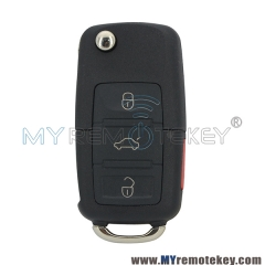 Flip remote key shell for VW Passat Beetle Golf Jetta 3 button with panic HU66